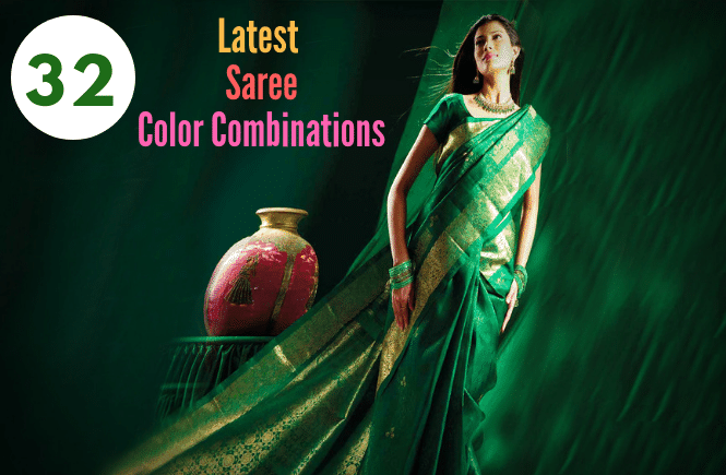 32 Latets colour combinations for saree