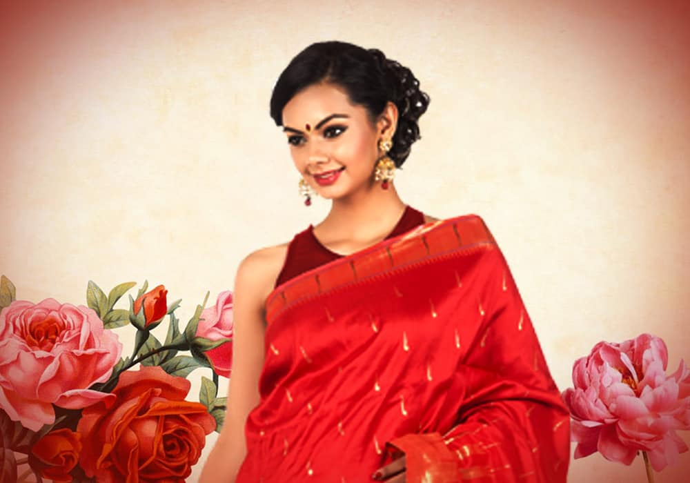 Beautiful Hairstyle On Saree For Engagement And Wedding 17 Top