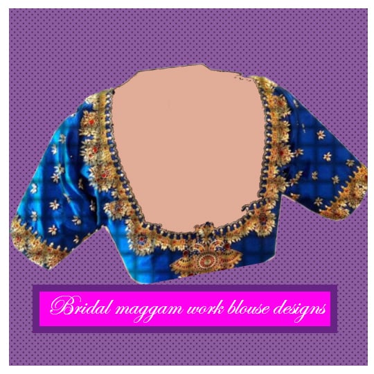 1816c2a05f3806 This bridal maggam work blouse design incorporates the tiny threaded  practice of beads and stones giving